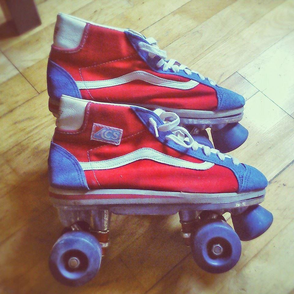 My new skates :D #vans #retro #rollerderby #rollerskates