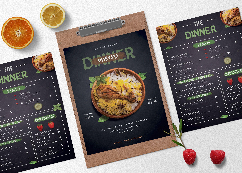 Prime Restaurant Menu Dinner Psd Template Designspsd Downloadpsd Downloadtemplate Menu Menudesign Menudinner Psd Templates Mockup Free Psd Free Mockup