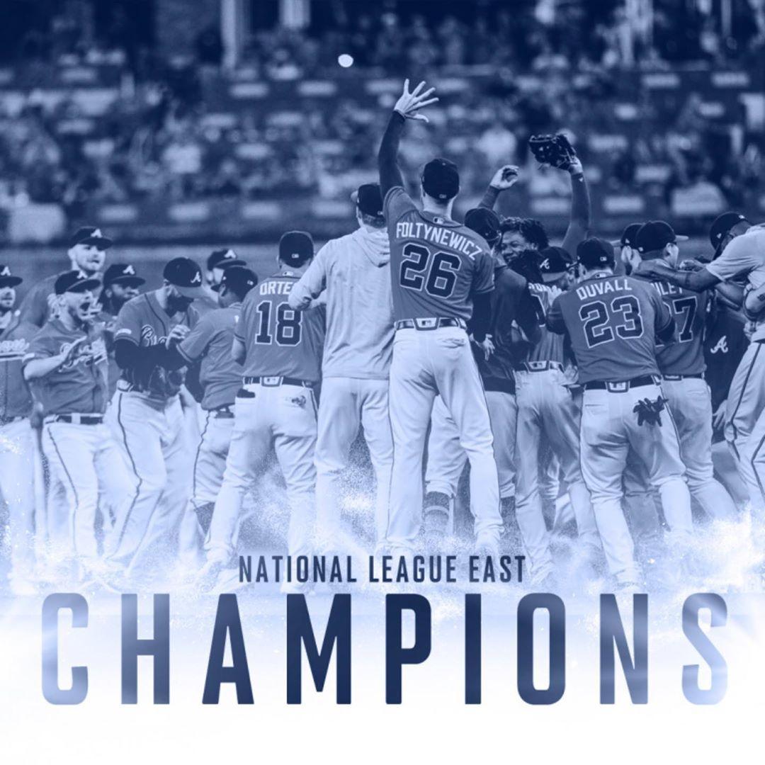 2019 Nl East Champs Foltyon Back2back Aceman Sayculberson Atlanta Braves Braves National League