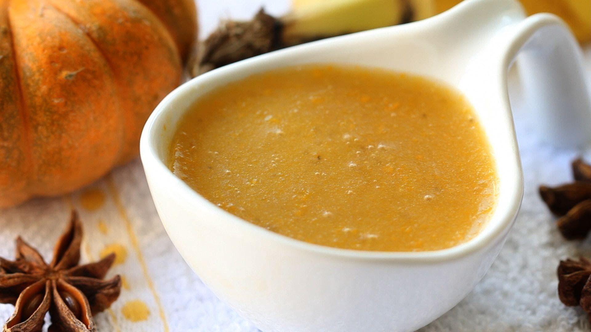 Baby food banana tapioca pumpkin pudding recipe with