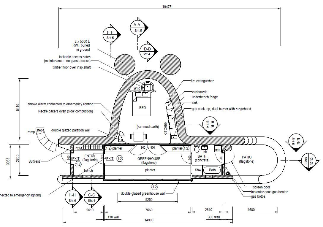 Earthship plans and designs pictures - Earthship