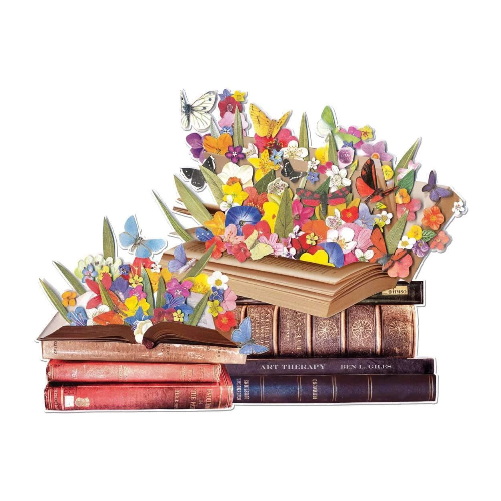 Ben Giles Blooming Books 750 Piece Shaped Jigsaw Puzzle