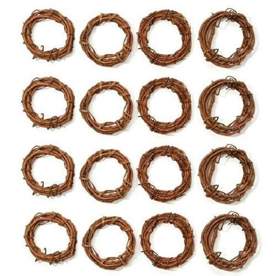 Photo of 1 inch Mini Grapevine Wreaths 8 Pieces