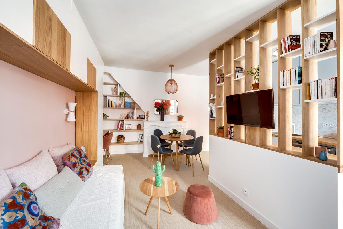 28 mq in rosa Divisorio, Appartamenti piccoli, Appartamento