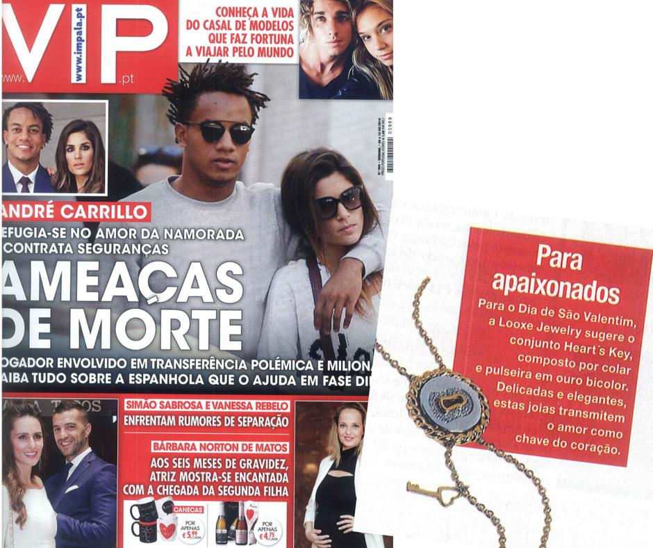 Campanha de São Valentim da Looxe na edição 969, da Revista VIP! // Campaña de San Valentín Romantis en la edición 969, de la revista VIP! // Looxe Jewelry Valentine´s campaign, in issue 969 - VIP Magazine! #looxe #looxejewelry #diadosnamorados #14fevereiro #saovalentim #namorados #presentesdiadosnamorados #diadosnamoradosideias #joias #valentinesday #14february #saintvalentine #valentinday2016 #valentinedaygifts OOCOL005085
