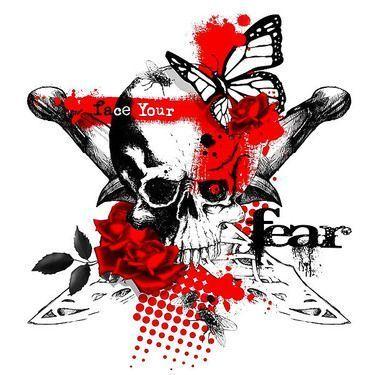Photo of Halbschädel Schmetterling Tattoo Design – Gesicht … –  Halber Schädel Schmet…