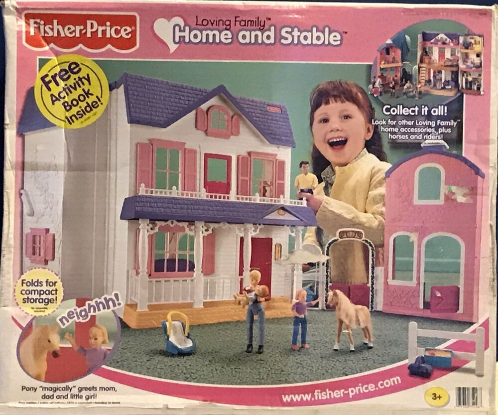 Fisher Price Loving Family Dollhouse Home And Horse Stable Brand New In Box Fisherpri Loving Family Dollhouse Fisher Price Loving Family Dollhouse Furniture
