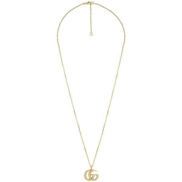 34efa5782 Gucci Double G Yellow Gold Necklace ($2,970) ❤ liked on Polyvore featuring  jewelry,