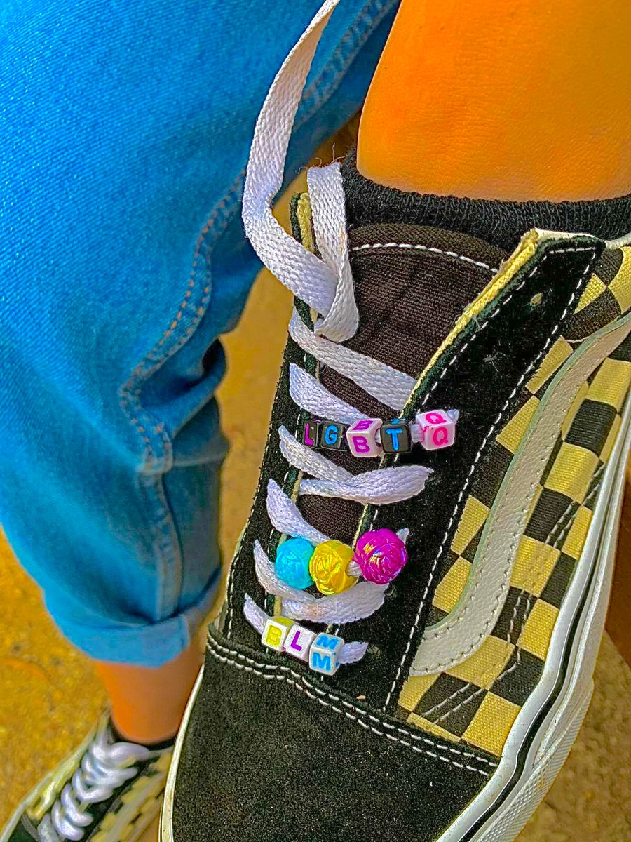 Pin by sara on indie | How to lace vans, Bead shoes laces, Beaded ...