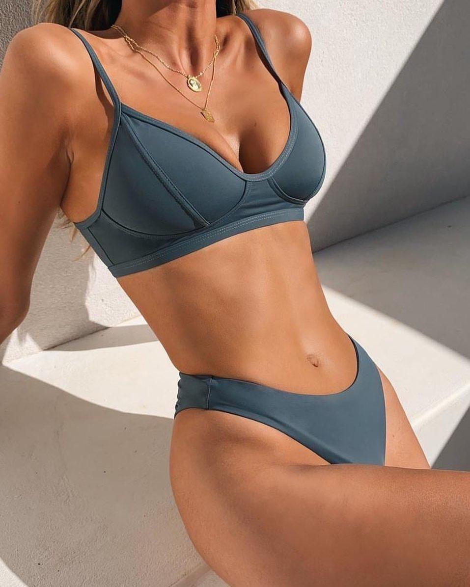 Majorca Bikini Top Steel Xs Grey En 2020 Trajes De Bikini