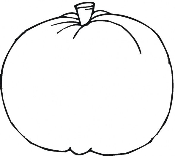 This outline of a pumpkin will be set home to families as