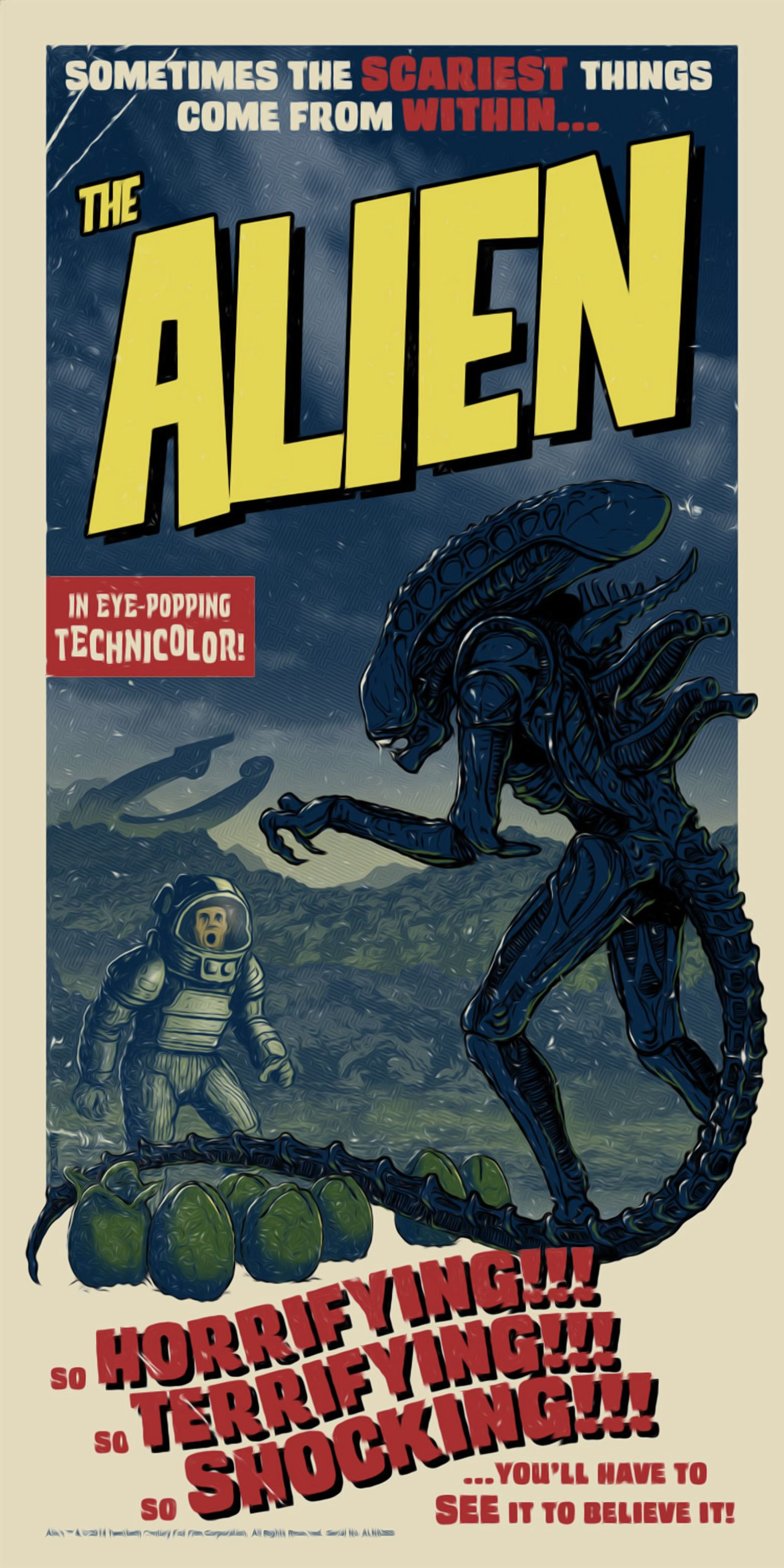 Alien  7   Horror Movie Posters Classic /& Vintage Cinema
