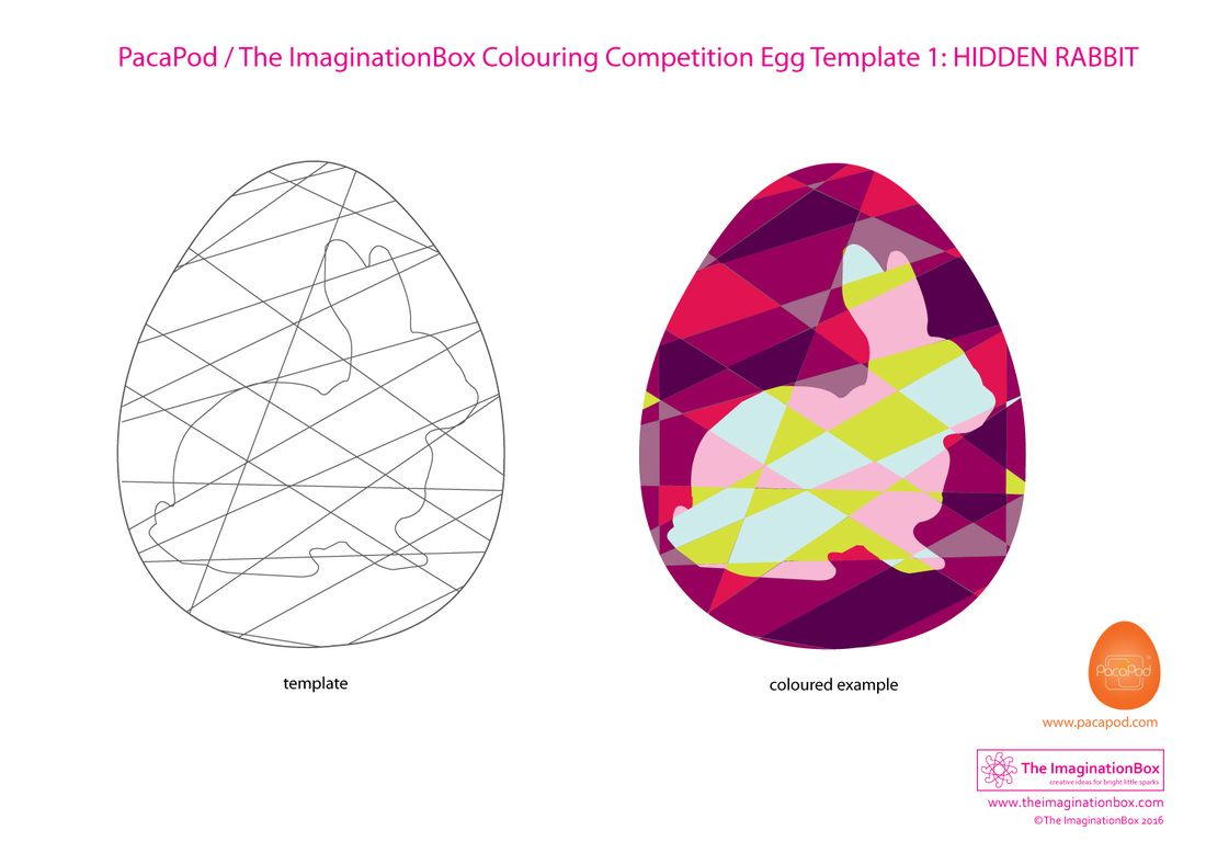 Hidden Rabbit\' Easter Egg Colouring Competition template. Click ...
