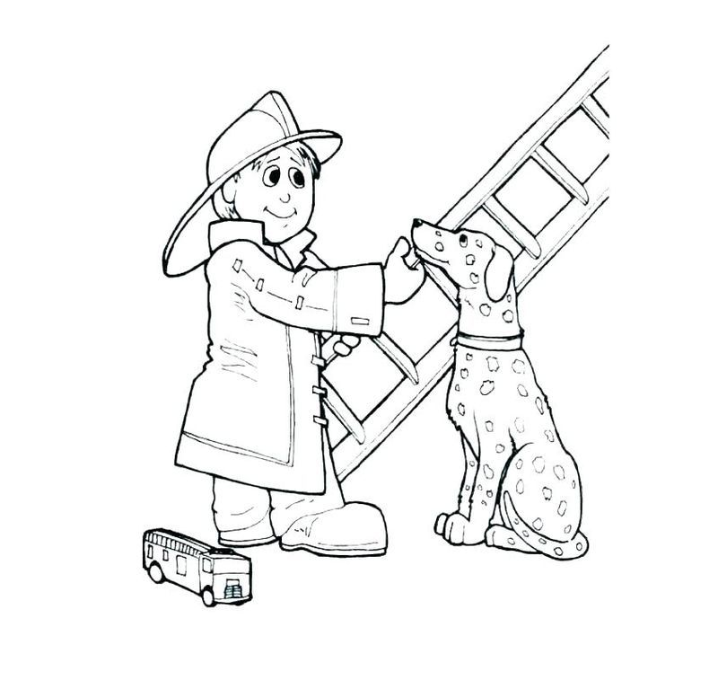 Firefighter Coloring Pages in 2020 Truck coloring pages