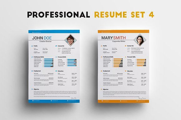 Professional Resume Set 4 by What a Story on @mywpthemes_xyz Best