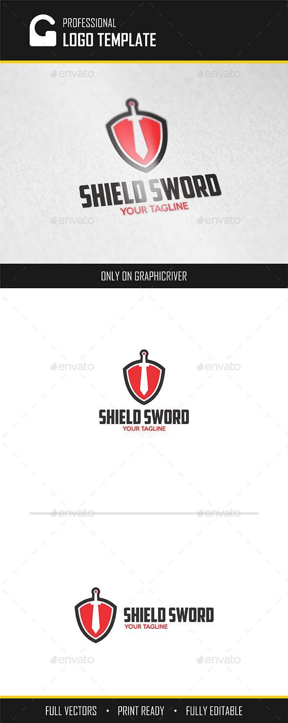 Shield Sword Logo   Logos, Template and Logo templates