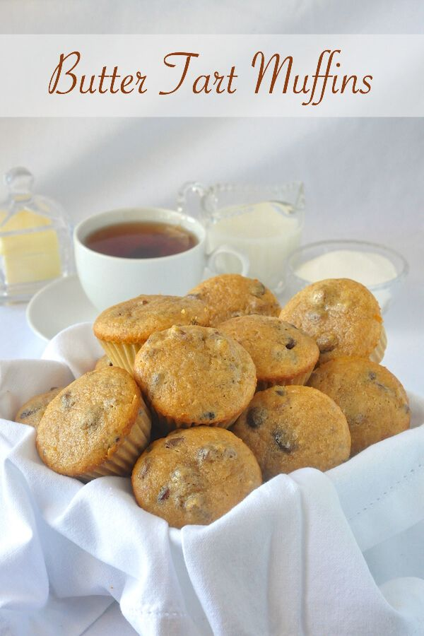 Butter Tart Muffins - a delicious caramely tasting brunch muffin!
