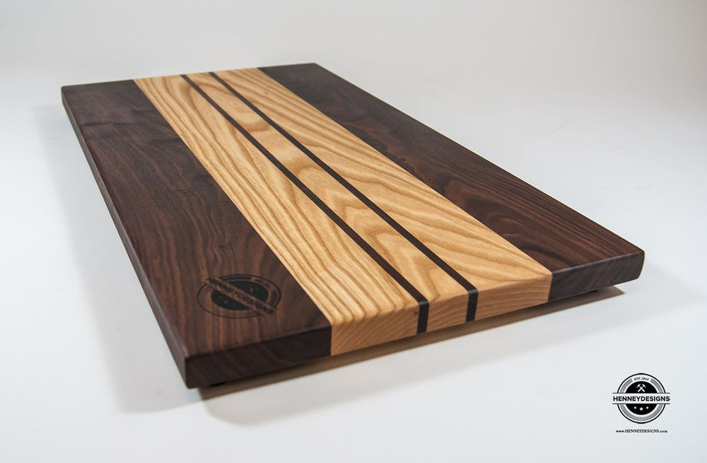 Face Grain Walnut and Ash Cutting Board Dimensions: Aprox  10 1/2