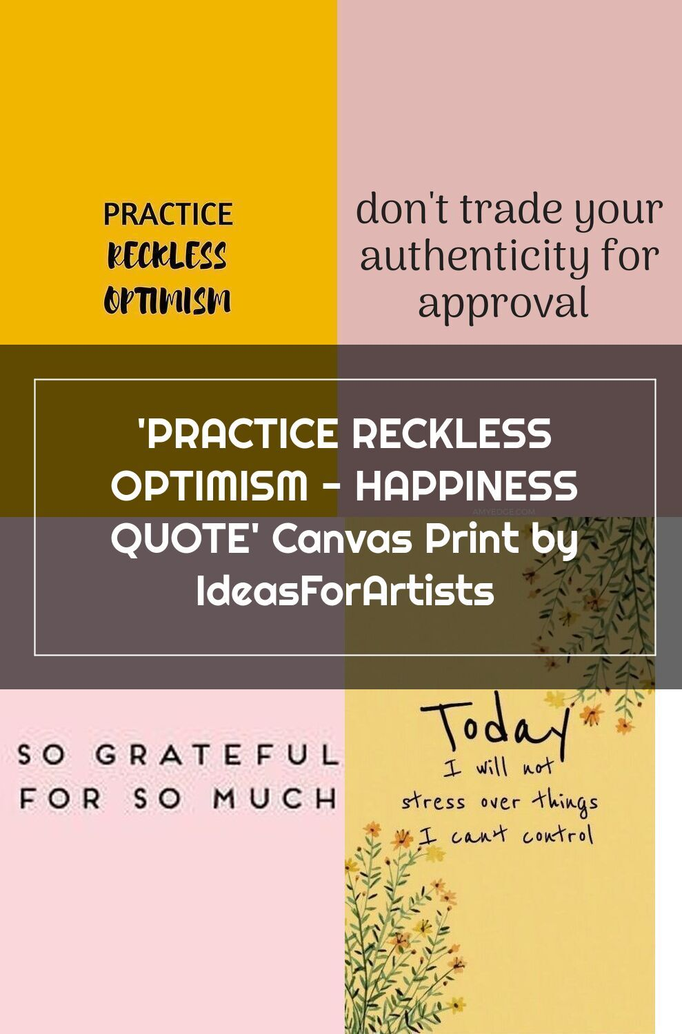 Practice Reckless Optimism Happiness Quote In 2020 Happy Quotes Quote Canvas Prints Quotes