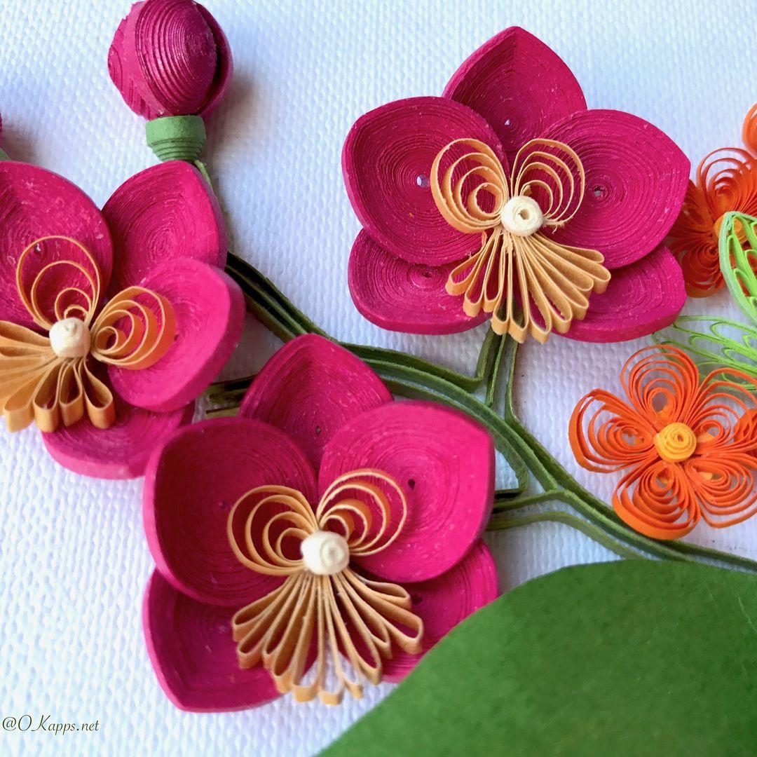 нежное орхидея квиллинг фото прикольные