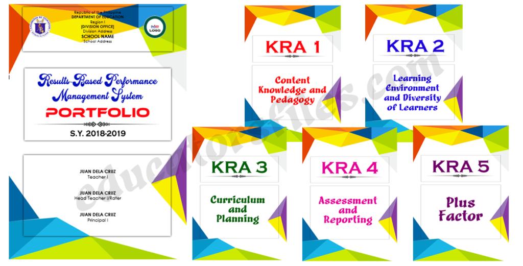 Rpms Portfolio Template Ready To Print Ms Word Format Educators Files Portfolio Templates Portfolio Template Design Portfolio Cover Design
