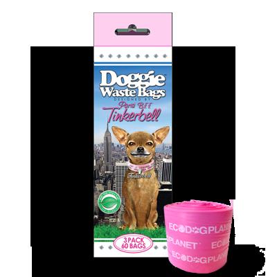 Tinkerbell Waste Bags - Pink 3 Pack - 60 bags