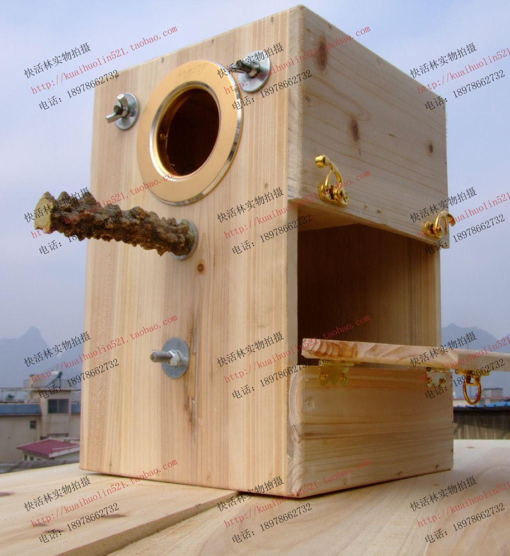Parrot nesting box --Nice design   Jaulas para aves ...