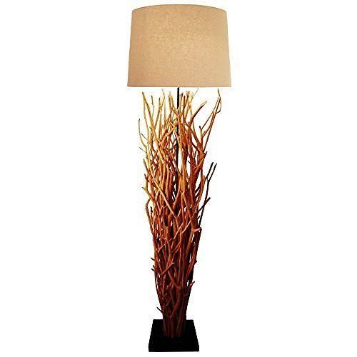 Hochwertige Stand-lampe BLUMA Designer Stehlampe Teakholz mit - lampen fürs wohnzimmer