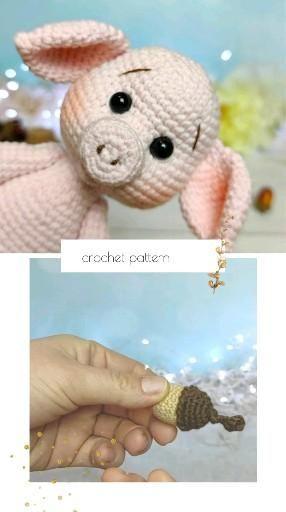 crochet pig pattern amigurumi pig toy pattern in E