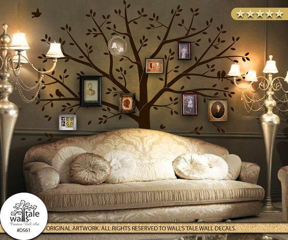family tree wall decor - wall art, creative photo album, family art ...
