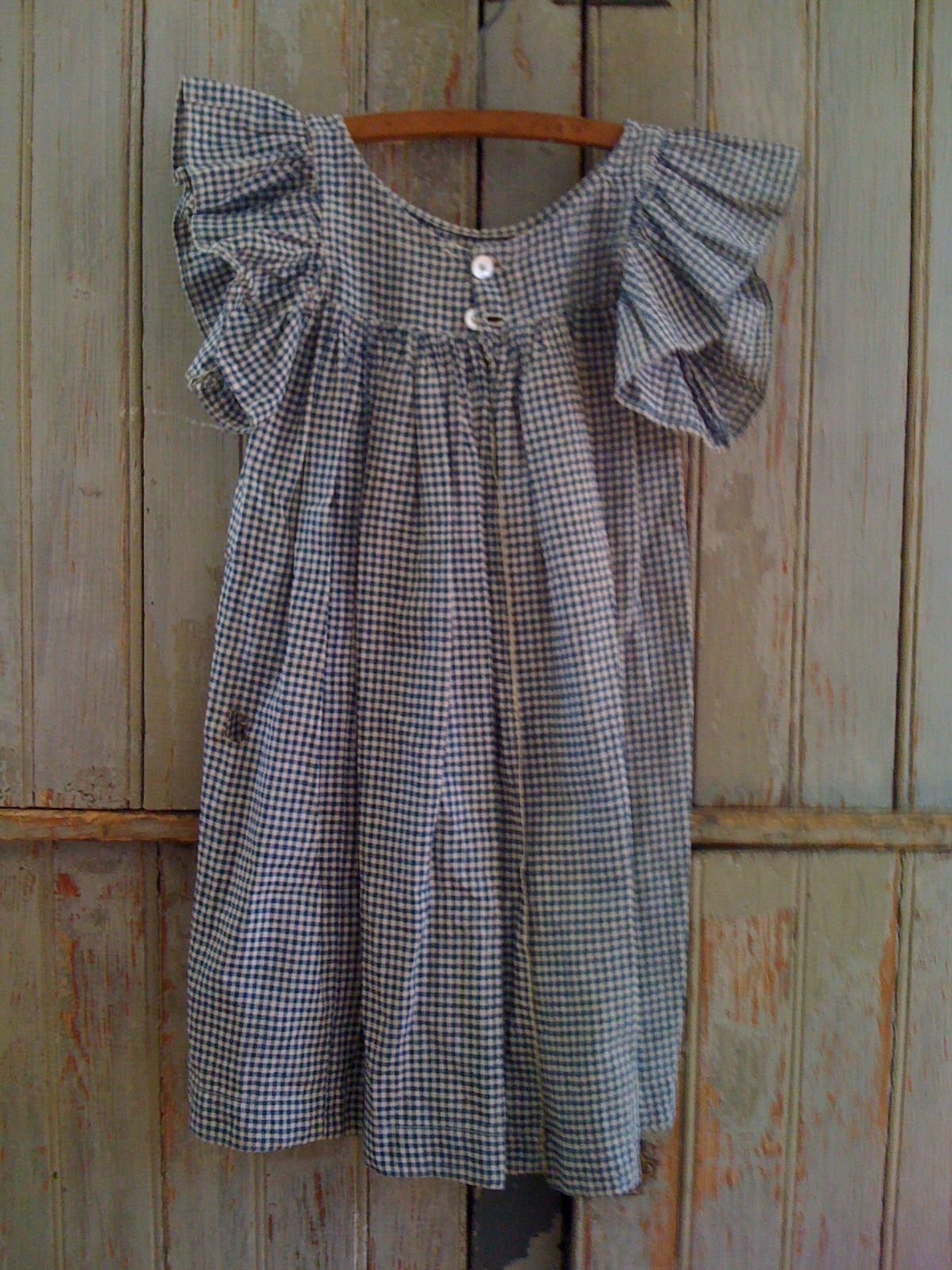 19Th C Blue & White Child's Pinafore..