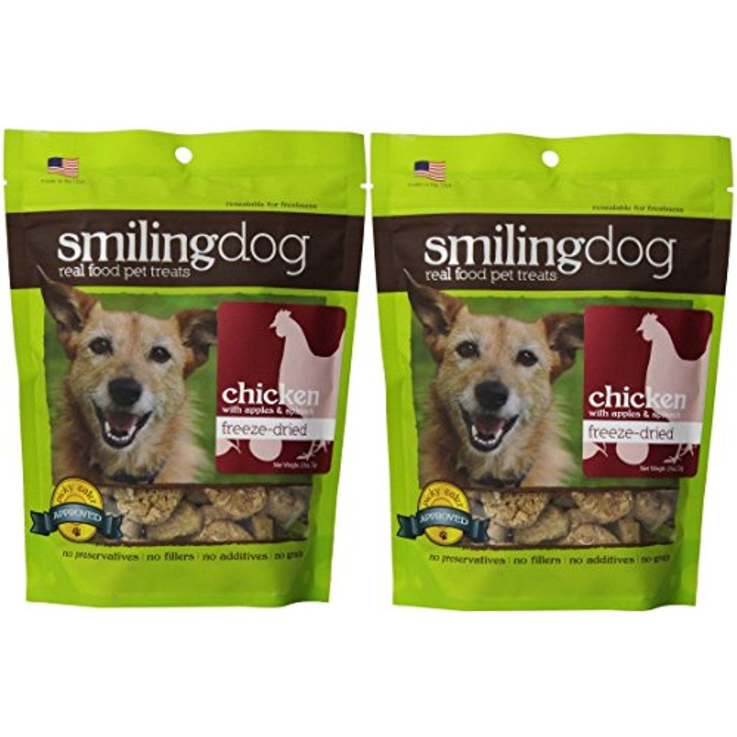 CHICKEN OR DUCK FREEZE DRIED SMILING DOG TREATS ALL