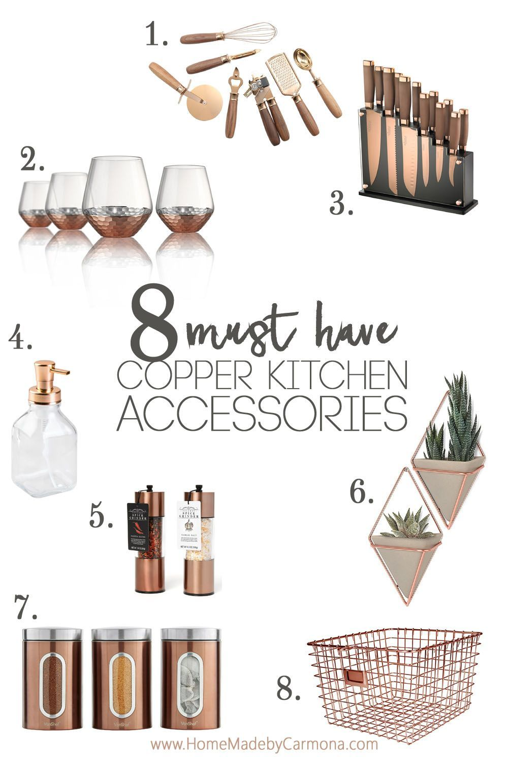 Trendy Copper Kitchen Accessories #copperkitchenaccessories