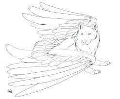 Image Result For Wolf With Wings Coloring Pages
