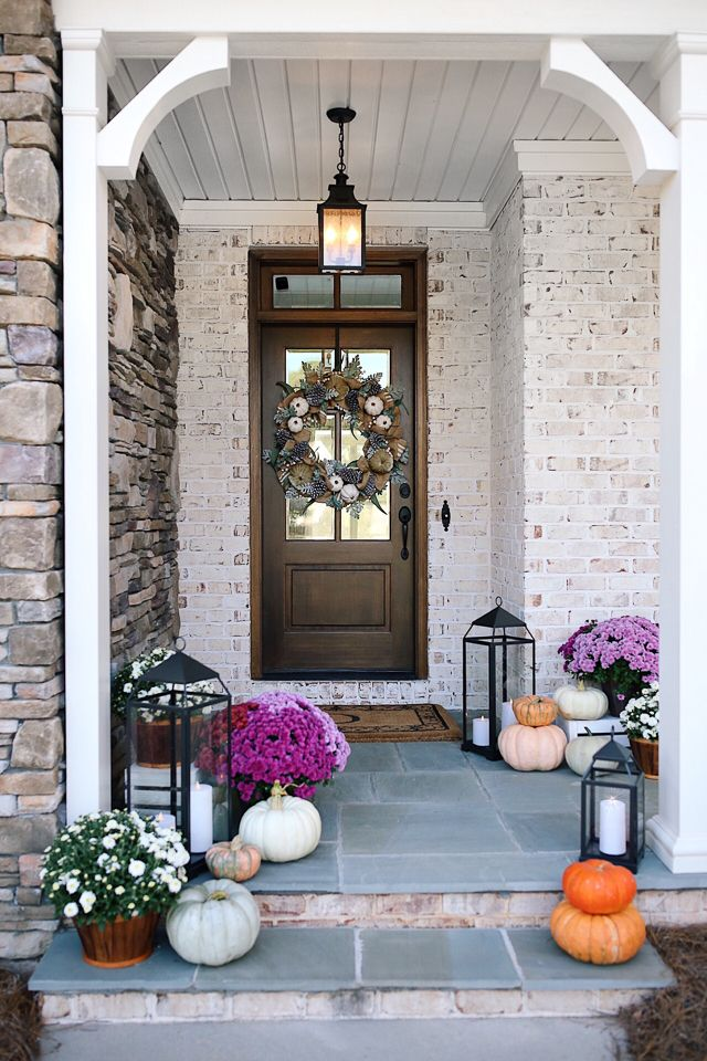 Thanksgiving Home Office Interior Design: Southern Curls & Pearls: Fall Decorating Ideas (+ House