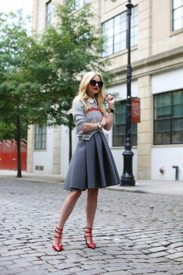 La jupe évasée un style éternel! | Outfits
