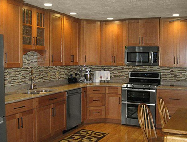 Cliqstudios Maple Caramel Kitchen Cabinets In The Dayton Style 2