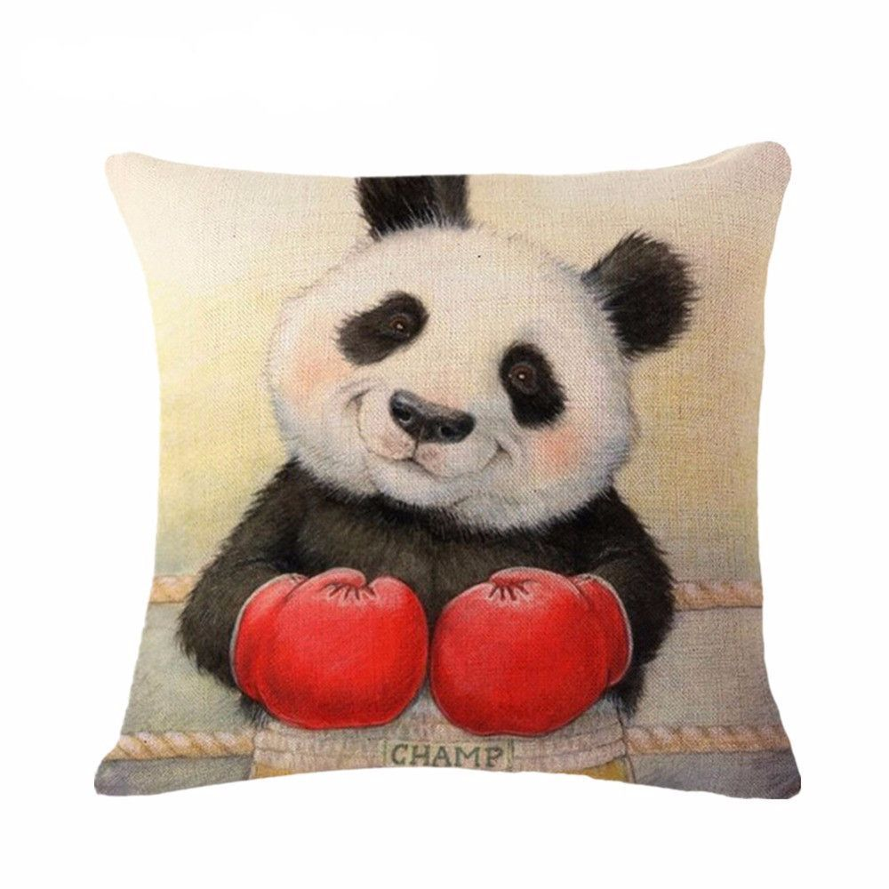 Charmant Panda Pillow Case (Creative Cushion Covers /Funny Throw Pillowcases)[Boxing]