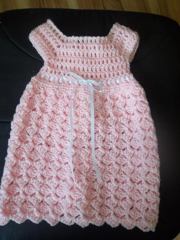 Crochet Baby Girl Dress Free Pattern Baby Pinterest Crochet