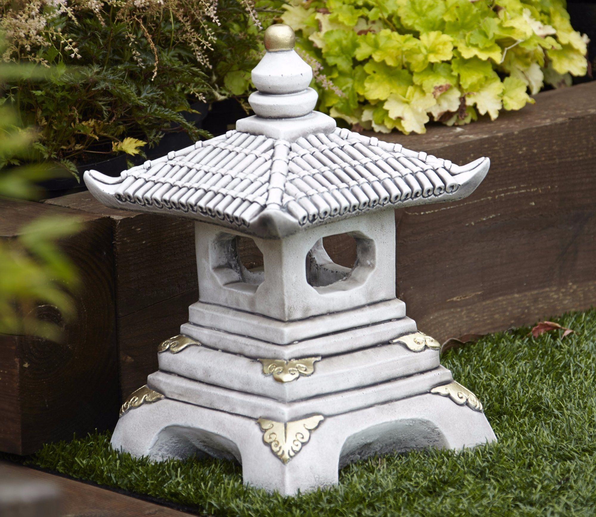 Borderstone One Tier Pagoda Garden Ornament Pagoda Garden