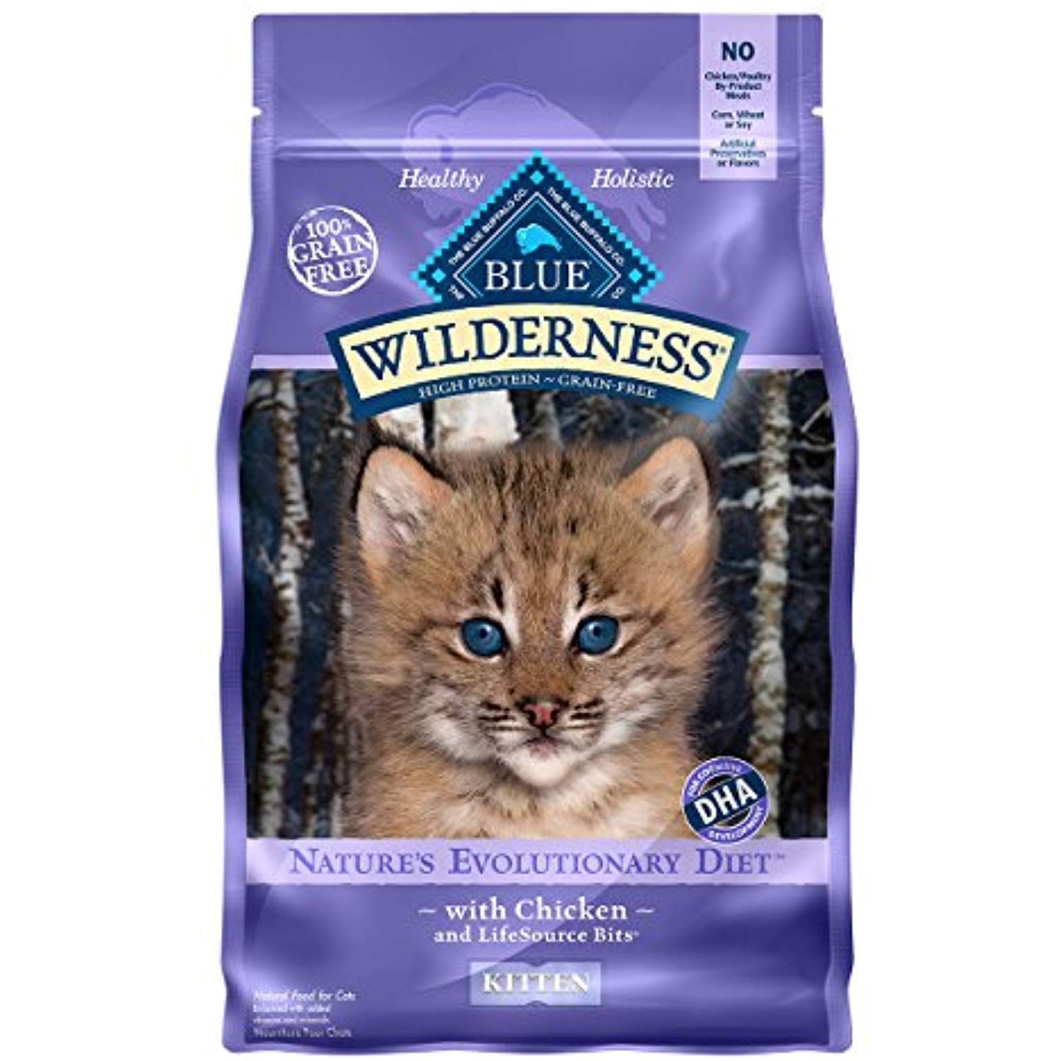 Blue Buffalo Wilderness High Protein Grain Free Natural Kitten Dry Cat Food Chicken 5 Lb Click Image For More Kitten Food Dry Cat Food Chicken Recipes Dry