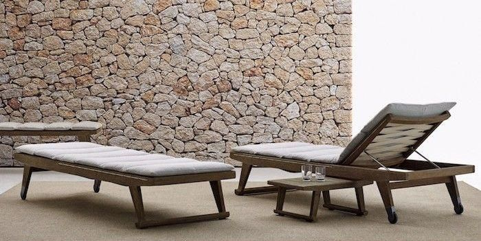 Bain De Soleil Bois Transate Transat Jardin Deckchairs Deck