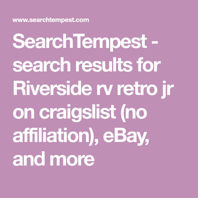 Searchtempest Search Results For Riverside Rv Retro Jr On