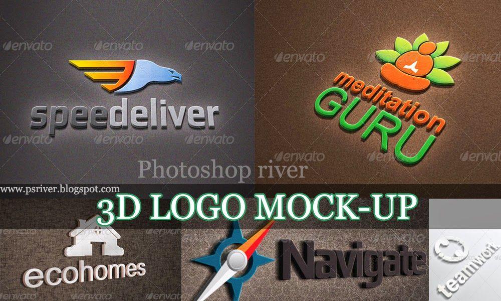 Photorealistic 3D Logo Mockup Pack Free Download Logo mockup