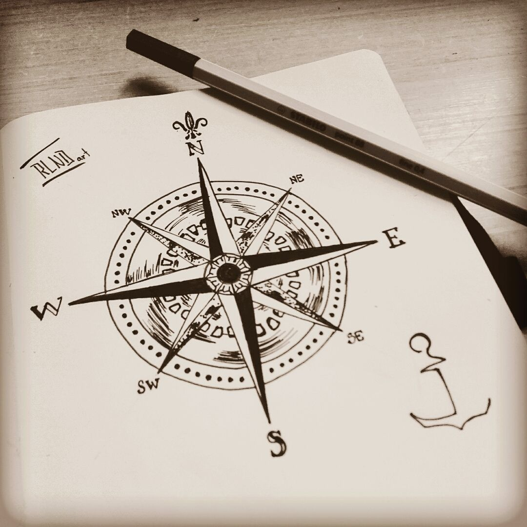 Compass Drawing, Compass Tattoo