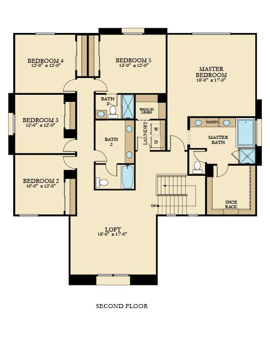 4121 Next Gen By Lennar New Home Plan In The Woodlands Silver Oak New House Plans House Plans Floor Plans