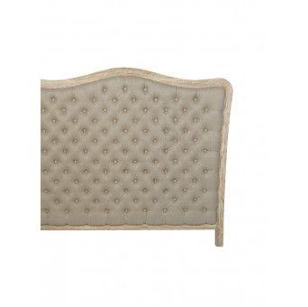 jackie tete de lit capitonn e beige blanc d 39 ivoire classic home projet arcachon. Black Bedroom Furniture Sets. Home Design Ideas