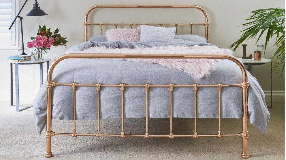 Shelby Queen Bed Rose Gold Beds Suites Bedroom Beds