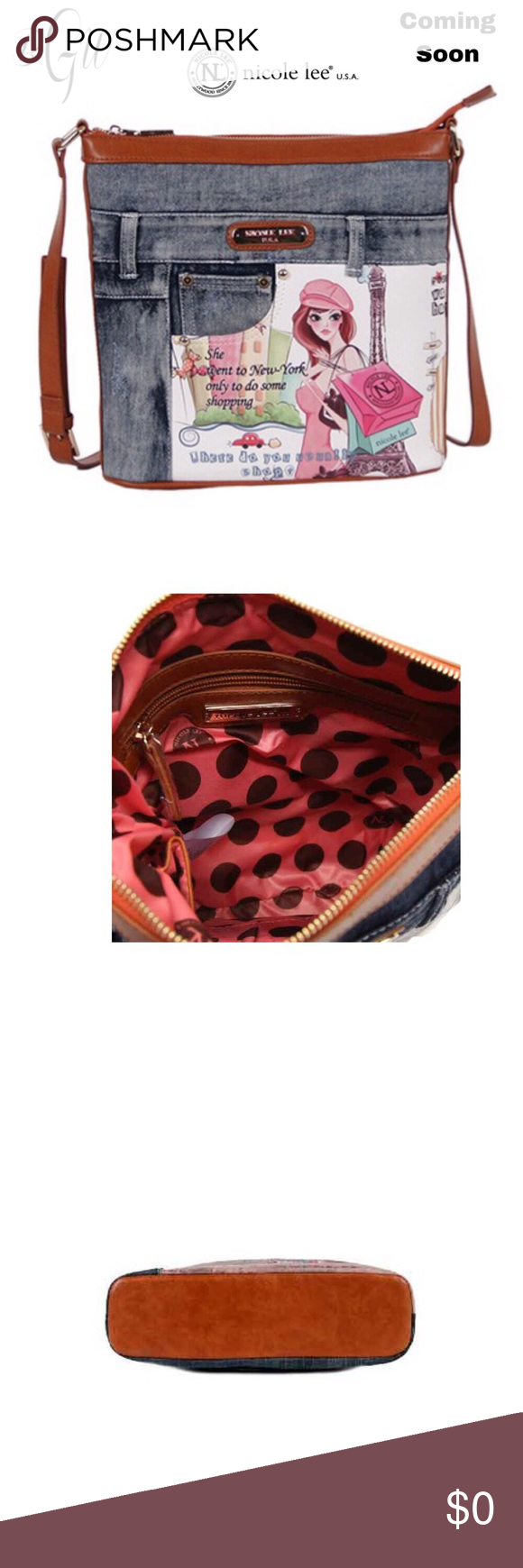 57225bd4aaa7 🎃FINAL SALE Nicole Lee Denim Buckle Crossbody Boutique | My Posh ...