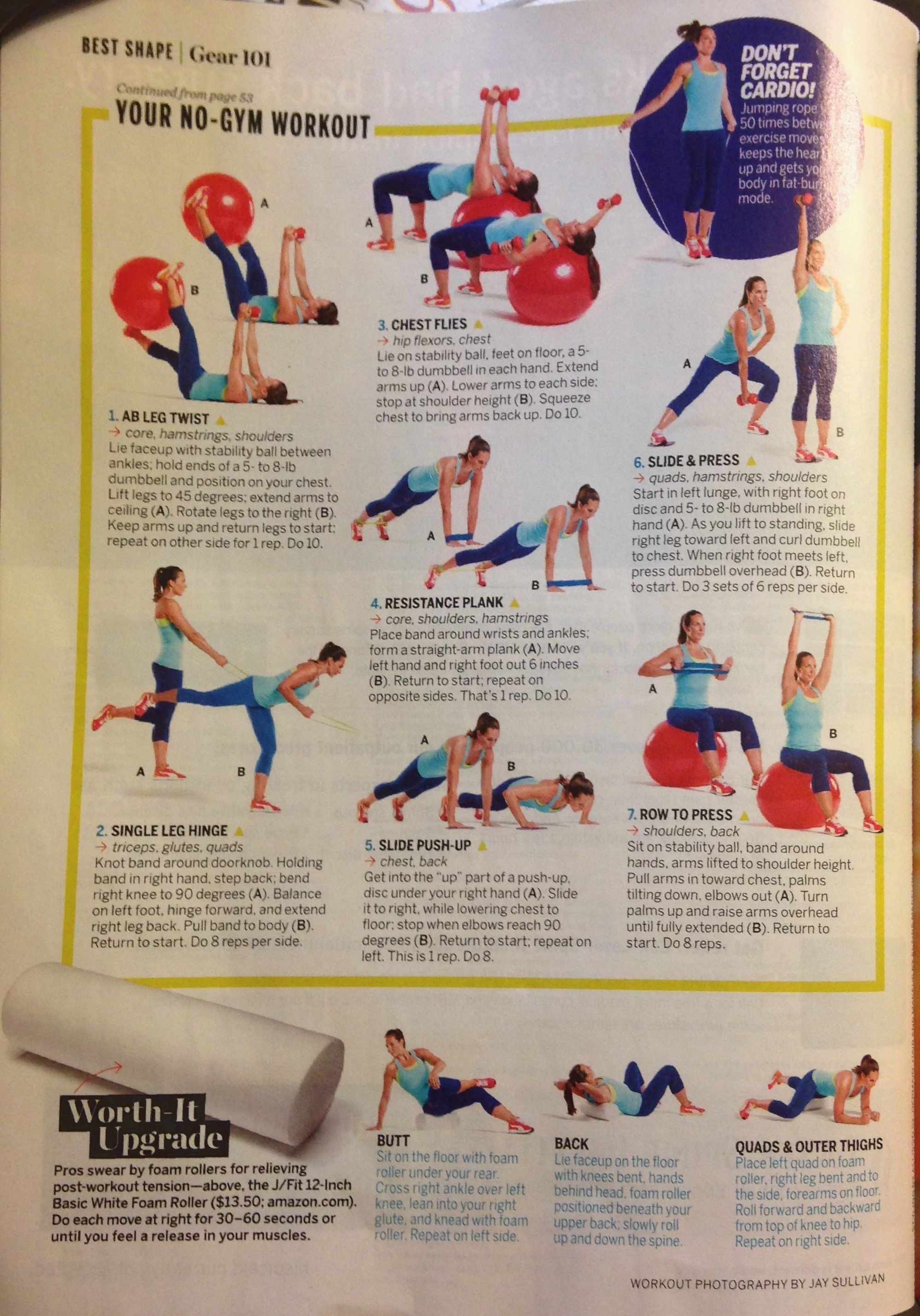 Your No Gym Workout Gym Workouts Workout Dumbbell Lifts
